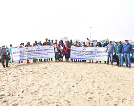 Beach Cleaning - Puri. January 2019