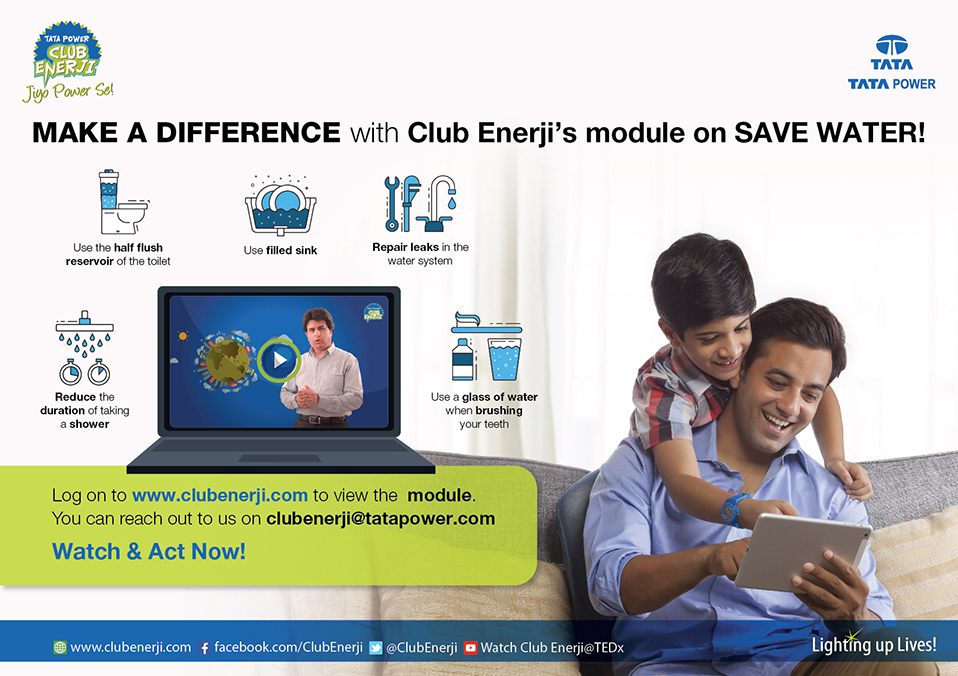 Tata Power Club Enerji's launches a module on 'Wat