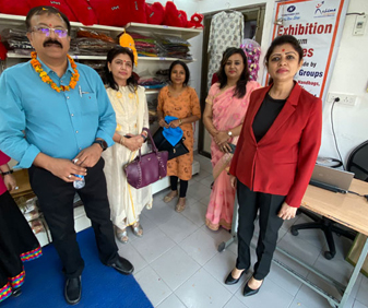 Ms.Shalini Singh, Head-Corporate Communications at the Dhaaga Exhibition